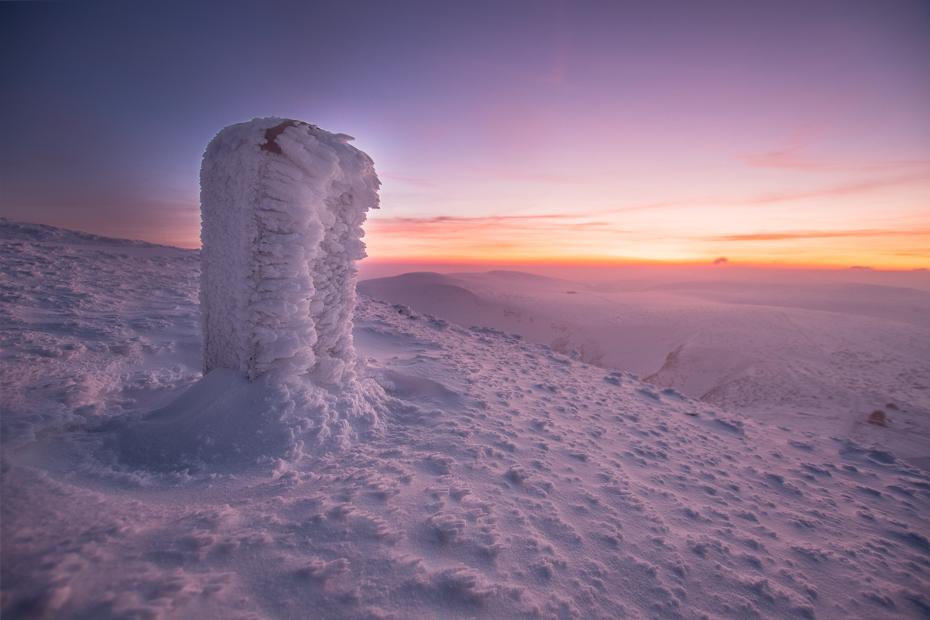 Karkonosze Nikon D7100 Sigma 10-20mm f/3.5 HSM niebo wschód słońca zamrażanie zjawisko geologiczne ranek atmosfera tworzenie Chmura horyzont śnieg