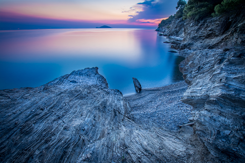 Zachód słońca 0 Grecja Nikon D7200 Sigma 10-20mm f/3.5 HSM Natura niebo morze woda Wybrzeże horyzont ocean teren skała
