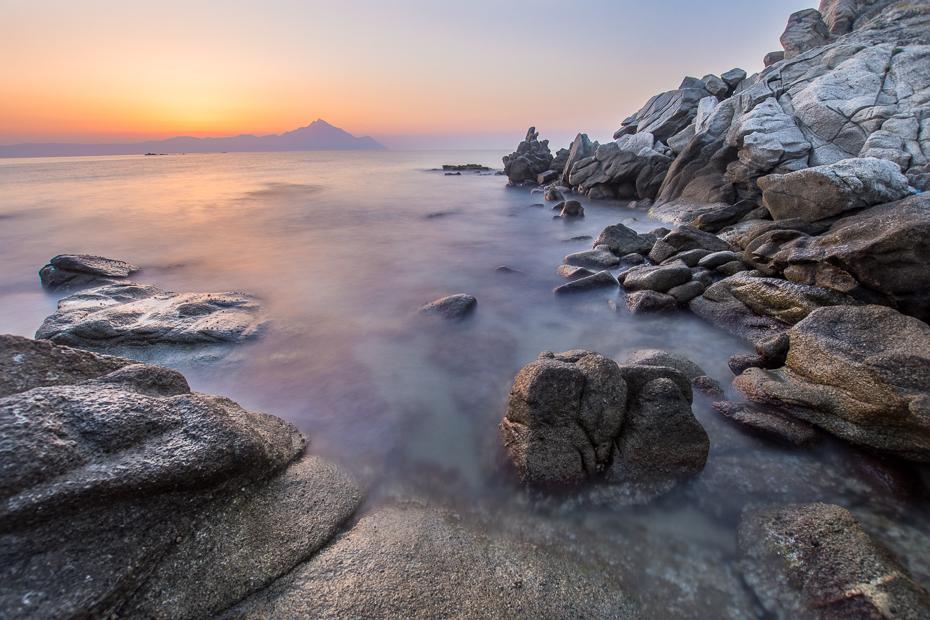 Góra Athos 0 Grecja Nikon D7200 Sigma 10-20mm f/3.5 HSM morze Wybrzeże skała woda cypel niebo Klif teren