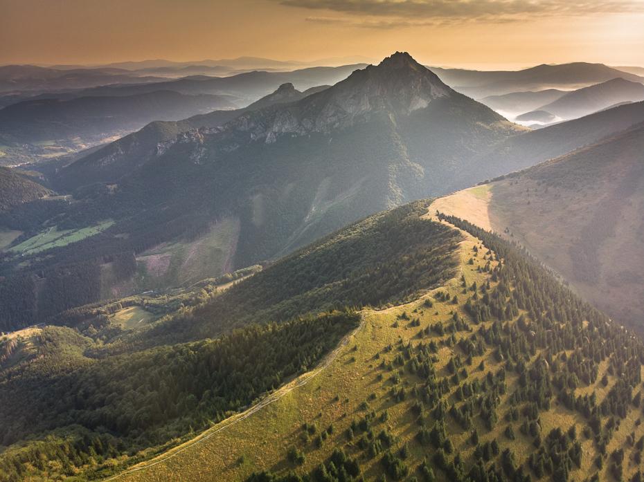 Mała Fatra 0 Mala Mavic Air górzyste formy terenu średniogórze niebo Góra grzbiet pustynia wzgórze pasmo górskie ranek atmosfera