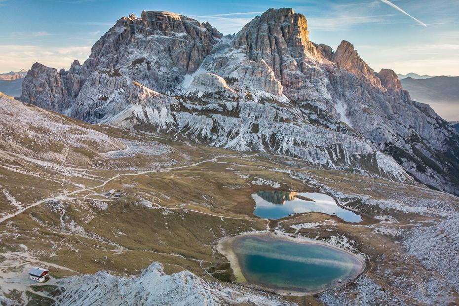 Tre Cime Lavaredo 0 Dolomity Mavic Air górzyste formy terenu Góra pasmo górskie pustynia grzbiet niebo masyw górski Alpy zimowy grań
