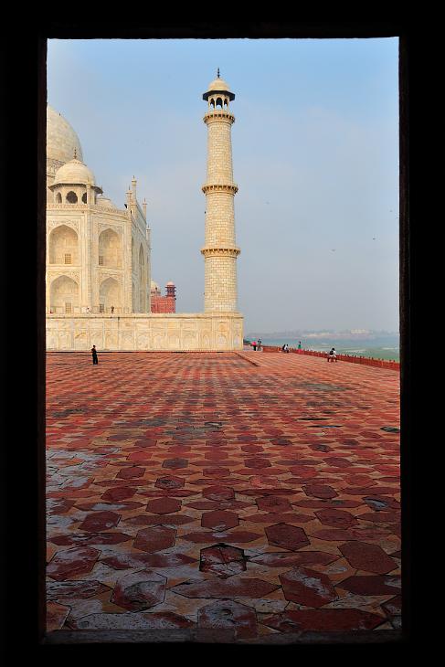 Taj Mahal Architektura Nikon D300 AF-S Zoom-Nikkor 17-55mm f/2.8G IF-ED Indie 0 niebo wieża punkt orientacyjny kolumna morze Ściana łuk historia historyczna Strona budynek