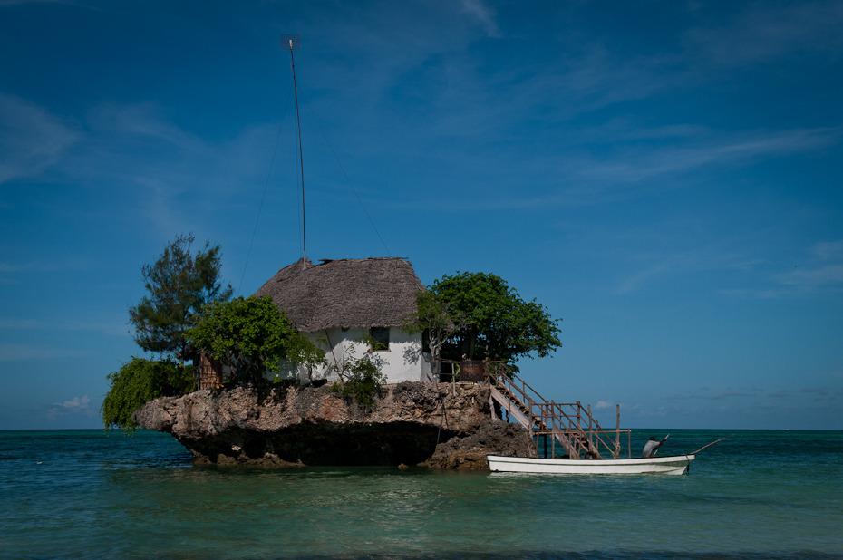 The Rock Krajobraz Nikon D300 AF-S Zoom-Nikkor 17-55mm f/2.8G IF-ED Zanzibar 0 morze niebo formy przybrzeżne i oceaniczne ocean wysepka woda wyspa kraje tropikalne Wybrzeże cypel