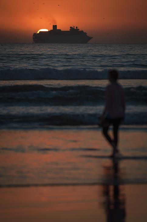 Zachód słońca Agadir Nikon D7000 AF-S Nikkor 70-200mm f/2.8G Maroko 0 morze horyzont zbiornik wodny zachód słońca ocean wschód słońca Wybrzeże niebo fala słońce