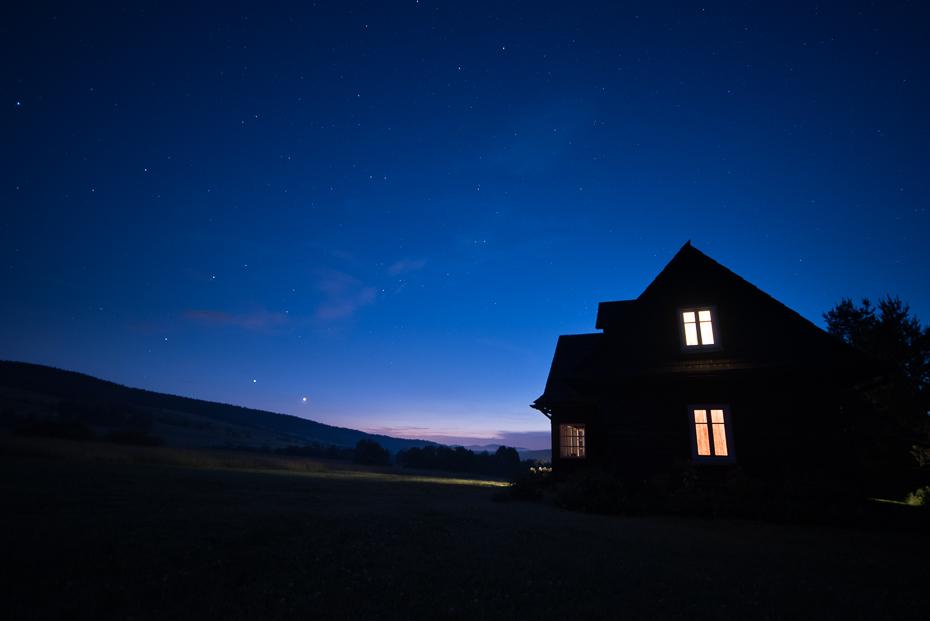 Beskid niski Krajobraz nikon d750 Sigma 15-30mm f/3.5-4.5 Aspherical niebo Natura noc atmosfera lekki ciemność zjawisko świt Chmura wieczór