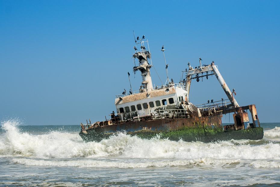 Wrak Henties Bay Krajobraz Nikon D7100 AF-S Nikkor 70-200mm f/2.8G Namibia 0 transport wodny morze jednostki pływające statek woda fala łódź niebo statek motorowy formy przybrzeżne i oceaniczne