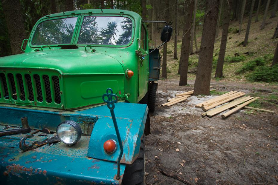 Wyrąb lasu 0 Czeska Szwajcaria Nikon D7200 Sigma 10-20mm f/3.5 HSM pojazd silnikowy pojazd Zielony samochód rodzaj transportu staromodny samochód na zewnątrz samochodu zderzak pojazd użytkowy poza trasami