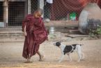 Mnich i pies